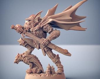 Undead Skeleton Champion DnD Miniature   Tabletop RPG Mini   D&D Figurines   Pathfinder Fantasy Gaming   Artisan Guild Modular
