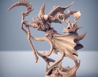Undead Lich DnD Miniature   Tabletop RPG Mini   D&D Figurines   Pathfinder Fantasy Gaming   Artisan Guild Modular   Mage