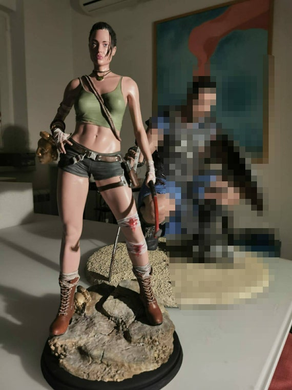 Lara Croft Tomb Raider 3D printed model SLA custom artist painted