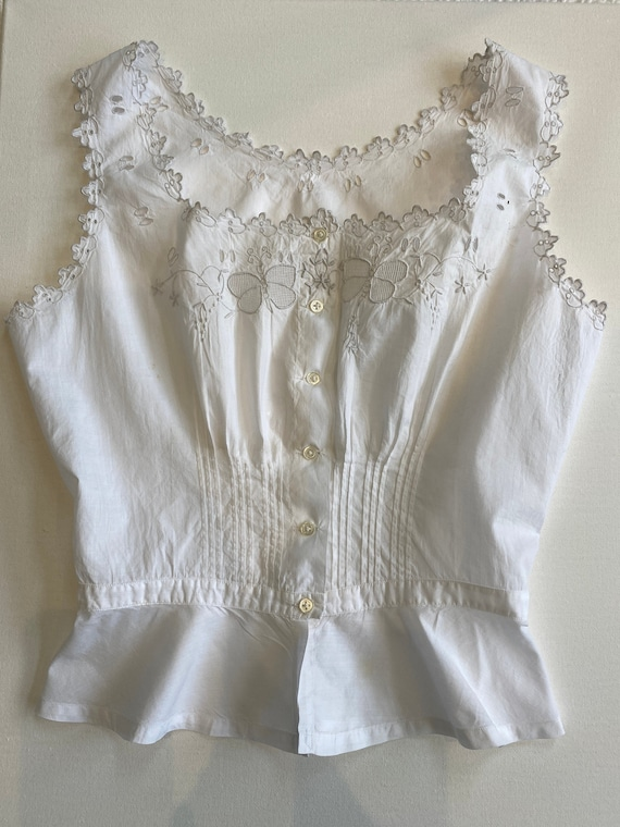 Antique French Corset Cover/ Camisole. Vintage Fre