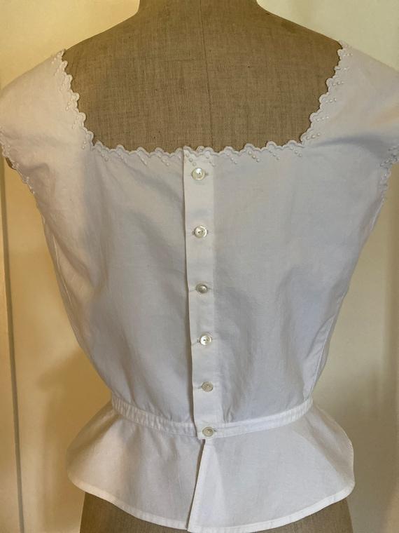 Antique French Corset Cover / Camisole . Edwardia… - image 6