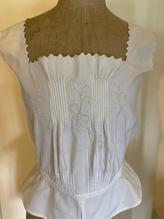 Antique French Corset Cover / Camisole . Edwardian