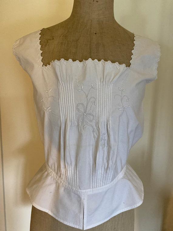 Antique French Corset Cover / Camisole . Edwardia… - image 2