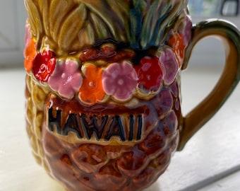 Vintage Pineapple Mug From Hawaii