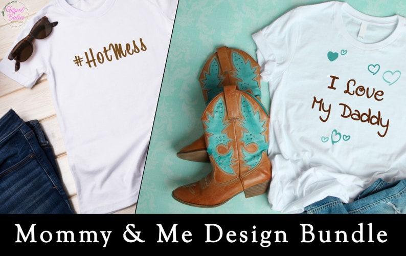 Mommy & Me Design Bundle  Cutting Files for Cricut image 1