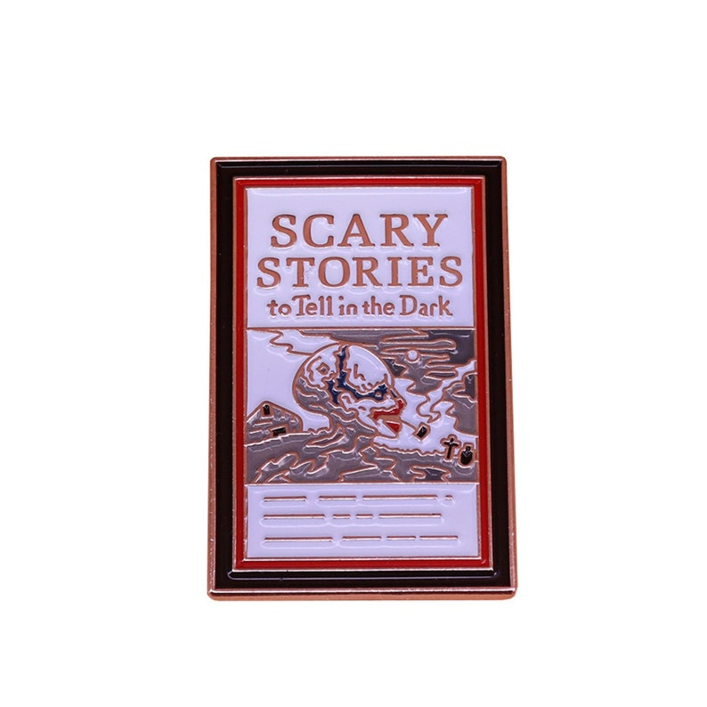 Pin 90s Nostalgia Pin 80s Nostalgia Pin Lapel Pin Clothes Decoration Scary Stories to Tell in the Dark Enamel Pin Hat Pin