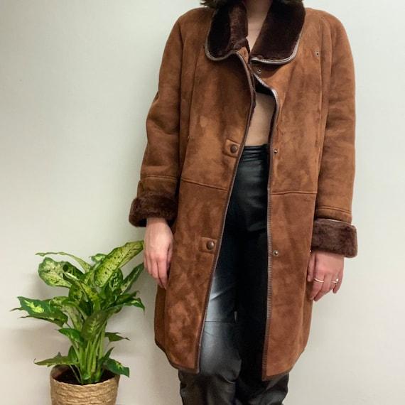 80's double-breasted sheepskin jacket