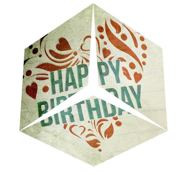 Paper-Crystal Happy-Birthday: PDF-Download of a image 0