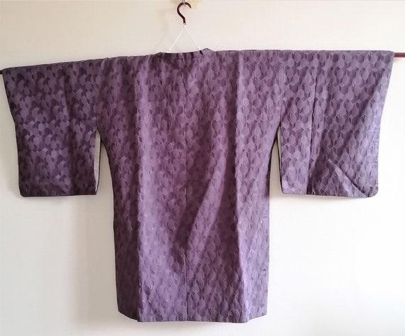 Vintage Japanese Purple Haori Jacket, Michiyuki C… - image 4