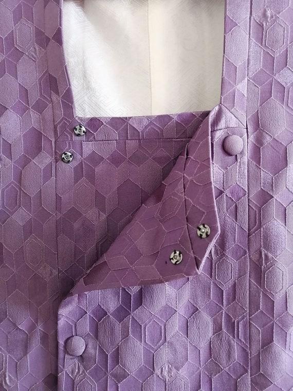 Vintage Japanese Purple Haori Jacket, Michiyuki C… - image 8