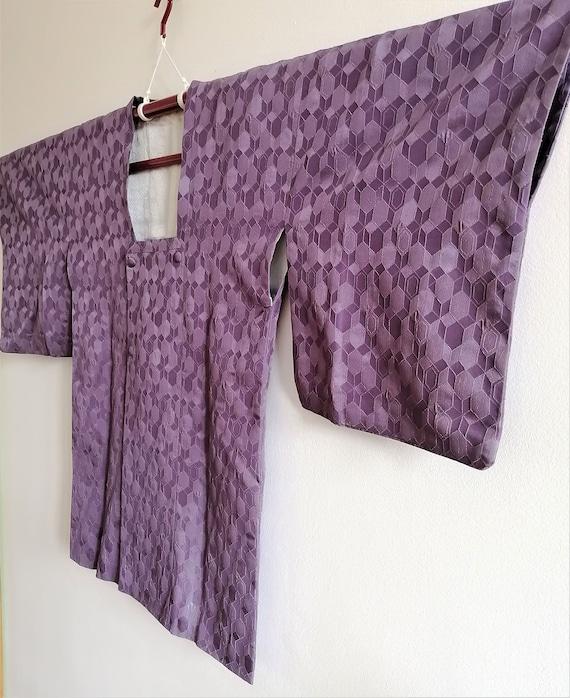 Vintage Japanese Purple Haori Jacket, Michiyuki C… - image 5