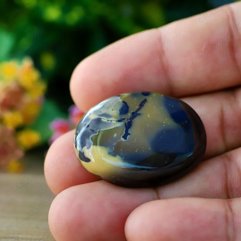 CD Ha127 Healing Dendrite Opal 38 Carat Dendrite Agate Jewelry Gemstone 32x21x7MM Size AAA+ Quality Dendrite Opal Oval Cabochon