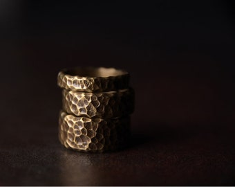 Minimalism Avant Garde Bronze Vintage style Designer Ring Street Style