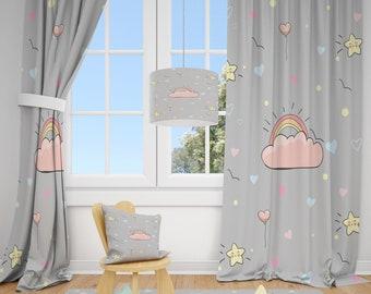 Girls Curtains Etsy