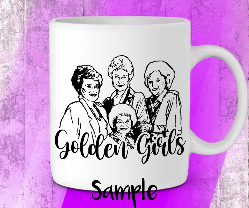 PNG EPS The Golden Girls svg inspired SVG jpg +pdf cutting files bundle for cricut silhouette printable