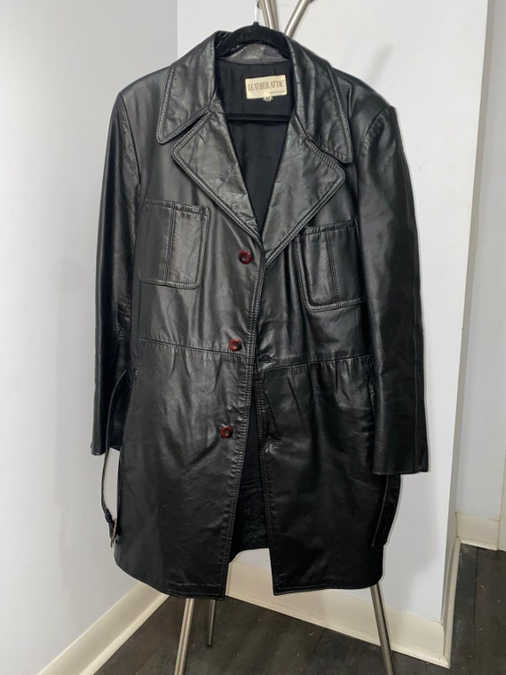 Men's Leather Jacket with Belt