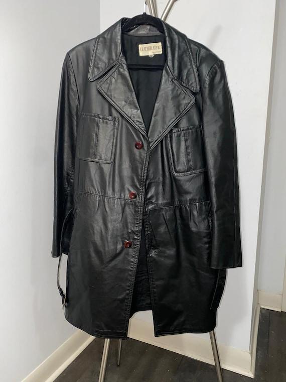 Men's Leather Jacket with Belt