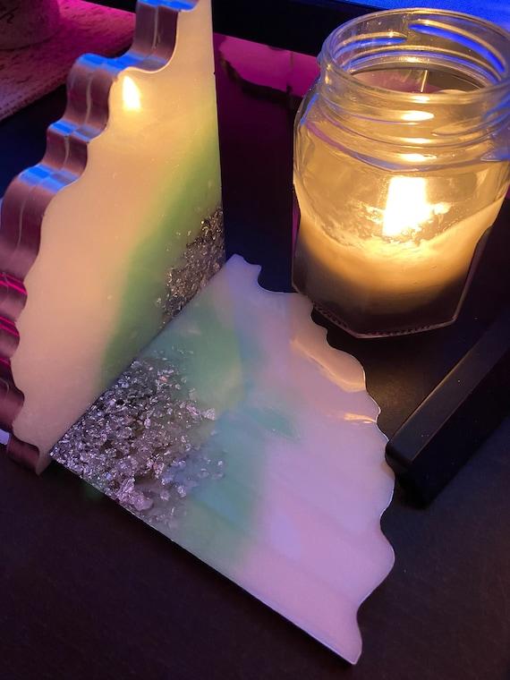 Handmade Geode Edged Triangle Shaped Coaster