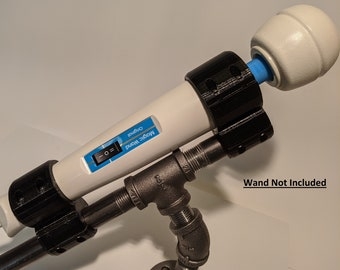 Original Hitachi Magic Wand, Magic Wand PLUS, & Magic Wand Rechargeable Vibrator Pipe Pole Mount by 3Deviants