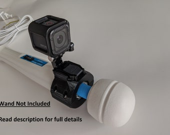 GoPro style Action Camera Mount for the Original Hitachi Magic Wand, Magic Wand PLUS, and Magic Wand RECHARGEABLE Vibrator