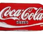 Coca Cola Classic Can Design Metal Enamel Belt Buckle