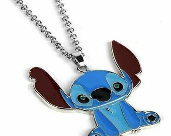 Stitch necklace personalized name necklace gold plated stitch necklace customized jewelry lilo and stitch necklace birthday gift ideas