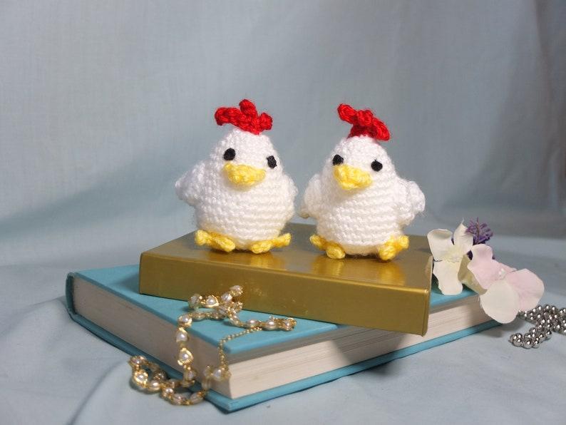 Handmade Chicken Plush Chicken Amigurumi Crochet Plushie Doll