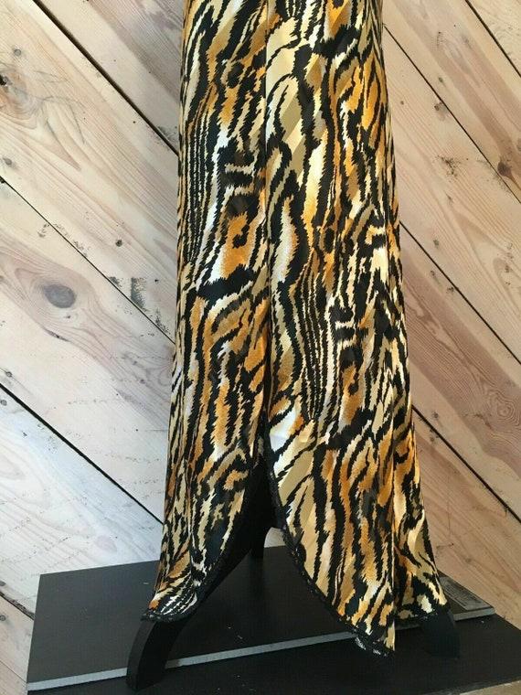 Vtg Lucie Ann Size Small Satin Gold Thread Zebra … - image 10