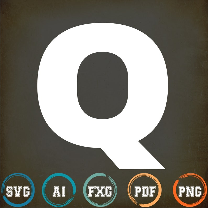 Bold Letter Q Alphabet Characters Big Font Capital Letters Svg Png Cut Files Vinyl Clip Art Download