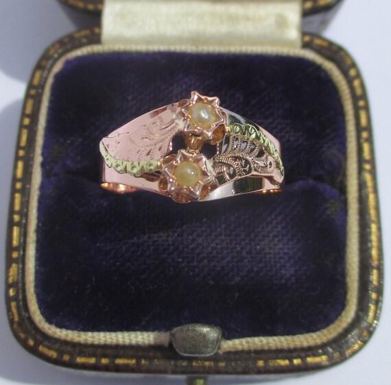 Tr\u00e8s Belle Bague Vintage Ancienne En Argent Massif 835 Et Roses De Corail Rose Sculpt\u00e9