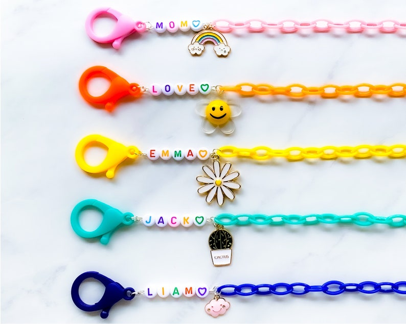 Personalized Face Mask Holder for Kids Mask Lanyard for Back to School