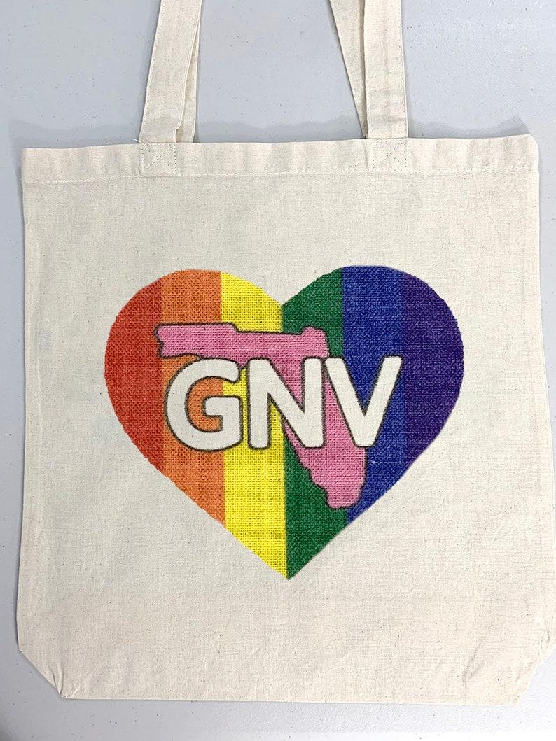 GNV Gainesville Pride Love Tote bag image 0