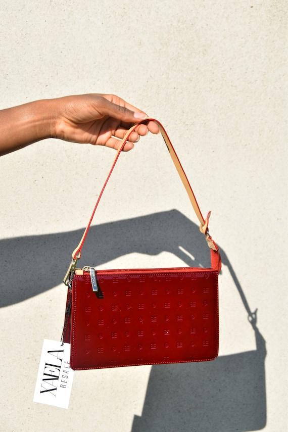 ARCADIA Patent Leather Y2K Red Shoulder Bag