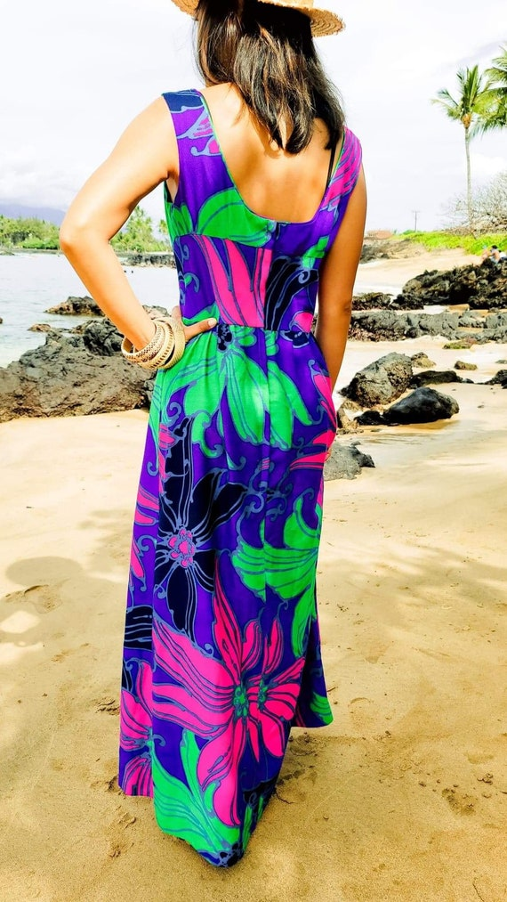 Hawaiian Vintage Dress 60's-70's