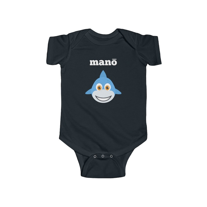 Birthday Shark Shirt  Shark Themed Birthday Party  Custom Name Shark Shirt  Infant Fine Jersey Bodysuit Hawaiian Shark Baby Mano