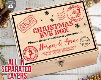 Christmas Eve Box SVG, Christmas Eve Crate SVG, Do Not Open