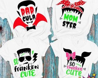 Halloween Family bundle Svg, Monster Family Bundle Svg, Momster Svg, Dadcula Svg, So Franken Cute svg, Halloween Matching, Halloween Family