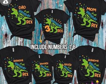 Dinosaur Birthday Boy Family Bundle Svg, Family Saurus svg, Boys T Rex Party Svg, Dxf, Eps, Png, Dino Shirt Design, Silhouette Cricut