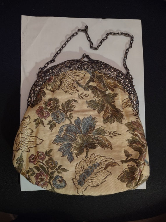 Antique Evening Bag/ Tapestry Purse