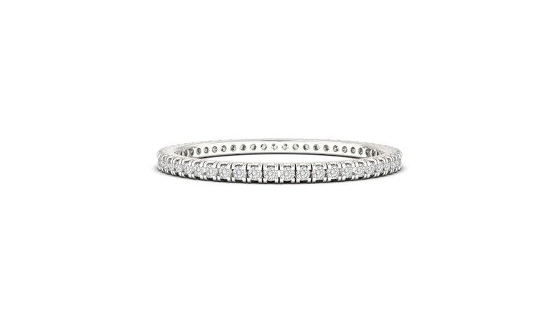 Minimalistic Ring Stacking Ring Round cut Diamond Ring Gold Wedding Band Thin Eternity Band Pave Diamond Band Eternity Wedding Band