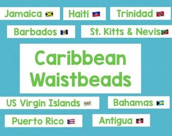 Kitts /& Nevis waistbeads St