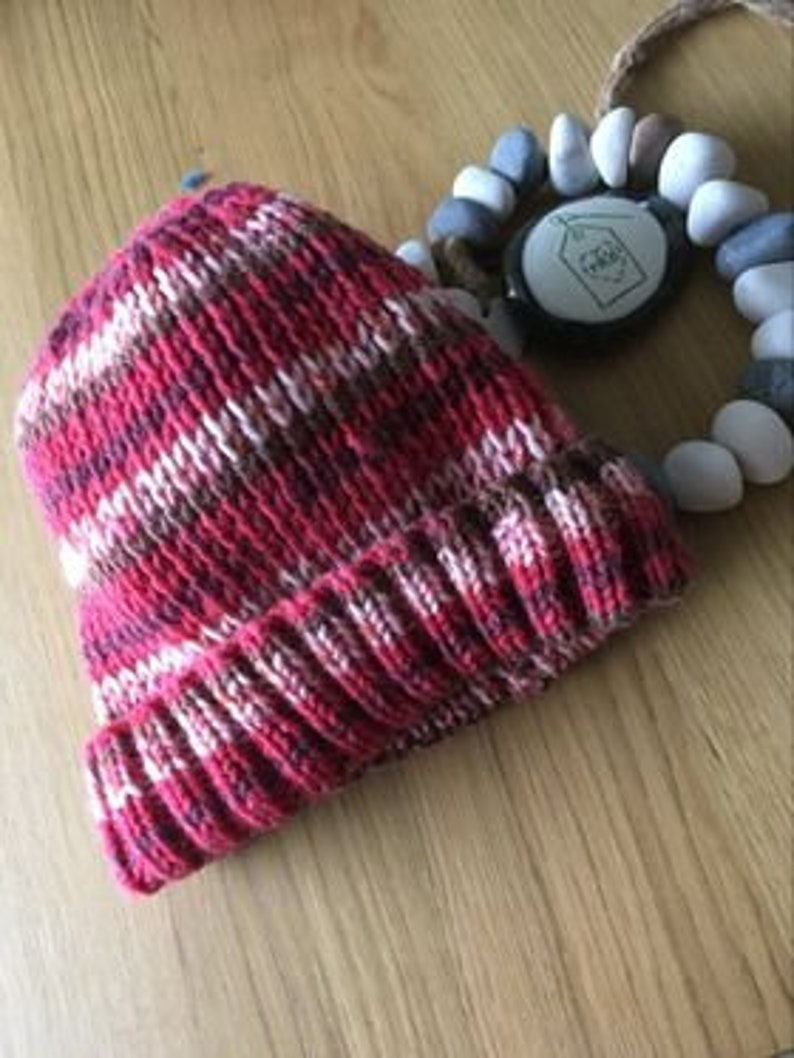 Ladies hand knitted Beanie Hat image 0