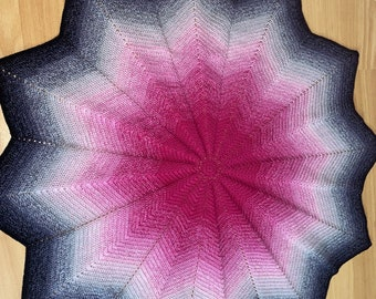12-pointed star baby blanket