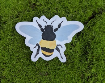 Painted Bee Vinyl Sticker