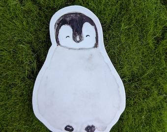 Watercolor Baby Penguin Vinyl Sticker
