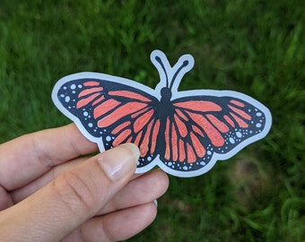 Painted Monarch Vinyl Sticker