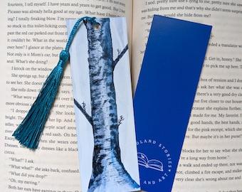 Birch Watercolor Bookmark