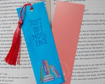 Watercolor Just One More Page Bookmark
