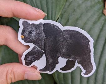 Watercolor Black Bear Vinyl Sticker