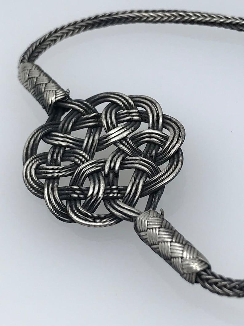 Women Wire Bracelet Unique Design Jewelry Braided Silver Oxidized Bracelet Gift for Her Boho Style Bracelet